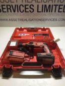 Hilti TE 2-A22 Cordless SDS Hammer Drill complete Set c/w X2 Batteries & Charger