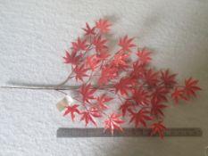 39 Pieces Plastic Japanese Maple Foliage - Orange - Unused - UVProtected.