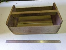 Vintage box with handle DWPD printed on side