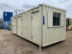 Anti Vandal Steel Welfare Unit Complete With Generator. 24ft x 9ft on Jack legs