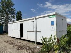 Anti Vandal Steel Portable Office 32ft x 10ft Fire Rated