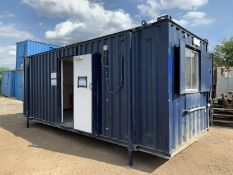 Anti Vandal Steel Portable Office Canteen 20 x 8ft