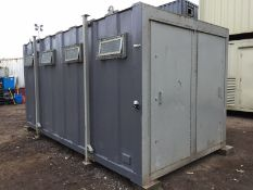 Anti Vandal Steel Portable Toilet Block 16ft x 8ft