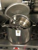 3 x Cooking Pots, 3 x Saucepans