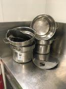 4 x Pots with Lids