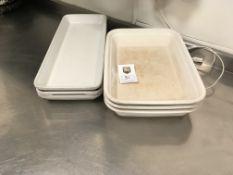 3 x Pillivuyt Trays, 3 x Revol Dishes