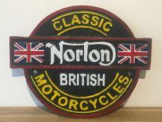 Norton Classic Wall Plaque