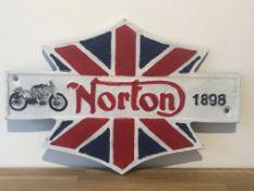 Norton Motorcycles 1898 Cast Iron Sign