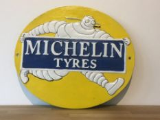 Michelin Tyres Cast Iron Sign