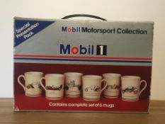 Collection Of 6 Mobil 1 Mugs In Original Presentation Box