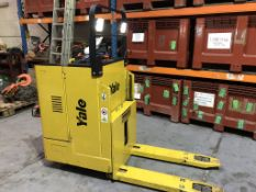 Yale Ride On Electric Pallet Truck c.w Charger 2 tonne MP20 5 hours