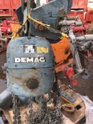 Demag 2 tonne Circa Electric Chain Block c.w trolley