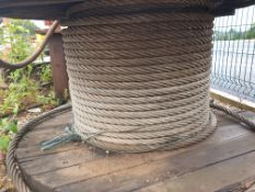 Spool of Tonne Wire rope