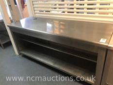 Stainless Steel Serving Sounter with Shelf
