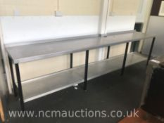 Large Stainless Steel Counter with Shelf