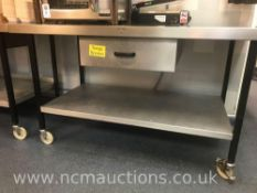 Stainless Steel Kitchen Counter with Drawer