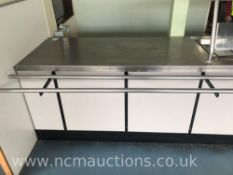 Stainless Steel Serving Counter with Shelving