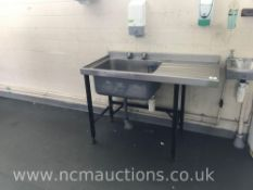 Large Single Stainless Steel Sink Unit