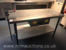 Stainless Steel Kitchen Counter with Draw and Industrial Tin Opener