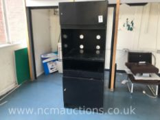 Black Lockable Metal Cabinet with Shelving