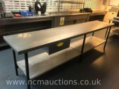Stainless Steel Kitchen Counter & Draw