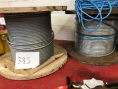 2 NO OF DRUMS OF WIRE ROPE APPRIX 16MM CIRCA 500M