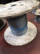 APPROX 13MM DIA WIRE ROPE ON DRUM CIRCA 300M