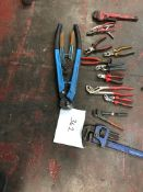 14 X PLIERS / CUTTERS/ WRENCHES