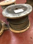 APPROX 28MM DIA DIA WIRE ROPE ON DRUM CIRCA 300M
