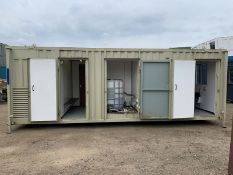Anti Vandal Steel Welfare Unit Complete With Generator. 24ft x 9ft on Jack legs