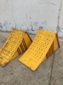 2 x yellow wheel chocks