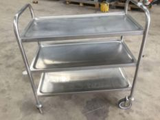 Sissons Stainless steel trolley