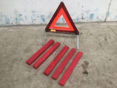 6x warning triangles