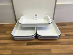 5 x Enamel Baking Trays