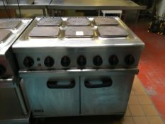 Lincat 6 Plate Electric Hob with Double Door Oven