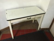 Enamelled Preparation Table