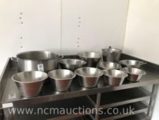 Selection of Stainless Steel Pots