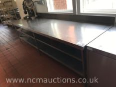 Stainless Steel Prep Counter with Undercounter Shelf