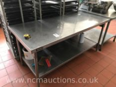 Stainless Steel Preperation Counter with Undercounter Shelf