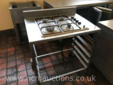 Stainless Steel Gas Hob with Tray Storage