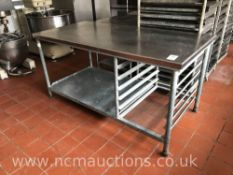 Stainless Steel Preperation Counter with Tray Storage