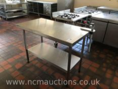 Stainless Steel Preperation Counter