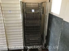 Various Metal Bread Baskets Trays and Trolley