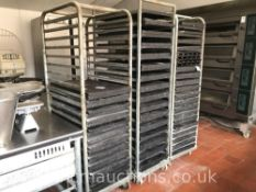 Mobile Trolleys and Baking Trays x3