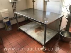 Stainless Steel Wield Prep Counter