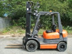 Toyota 6FD25 Forklift 2.5 Ton. Toyota diesel engineSideshiftIn daily useWeighs about 4000 kg