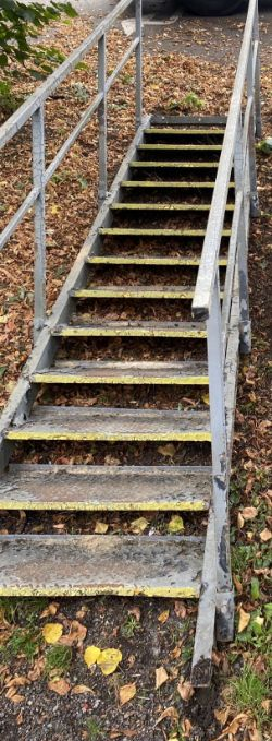 13 Tread Straight Up Steel Staircase