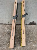 1 metre wide yard brush x2