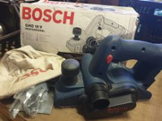 Bosch GHO 18V Professional battery powered cordless plane in original box - No Battery