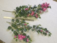 30 Pieces of Artificial Bougainvillea bush FR - Pink - used but very good condition